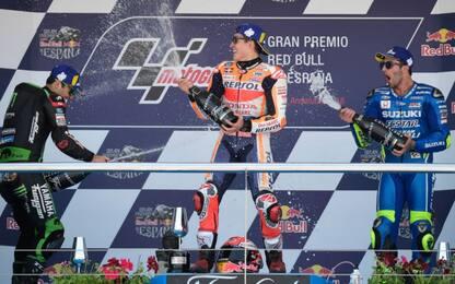 GP Spagna, vince Marquez. 2° Zarco, 3° Iannone