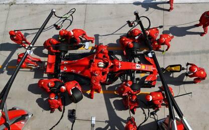 Ferrari, momento chiave: il pit-stop al Montmeló