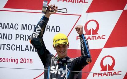 """Moto2, Marini: """"Il mio primo podio, grande!"""""""
