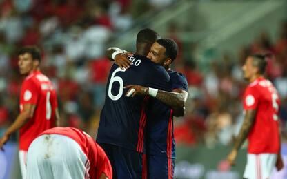 Terrier stende il Benfica, il Lione vince 3-2