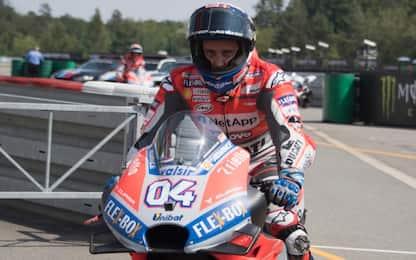 GP Brno, Dovizioso in testa nel warm up. 10° Rossi