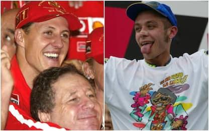 Schumi e Rossi, 15 anni fa la doppietta Mondiale