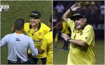 Maradona show: vince e viene espulso. Poi lo sfogo