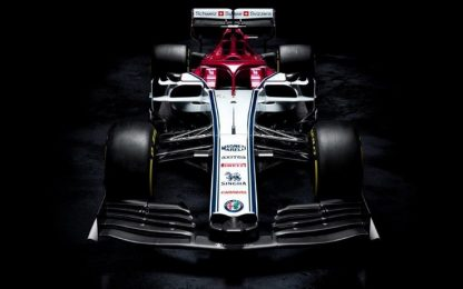 Svelata l'Alfa Racing di Kimi e Giovinazzi