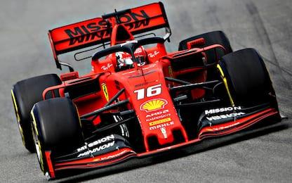 Leclerc super nel Day-2: test sempre della Ferrari