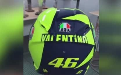Vale, Mondiale in testa: ecco il nuovo casco VIDEO