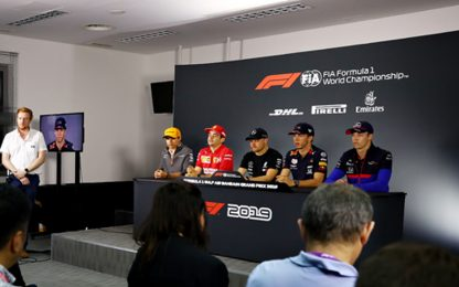GP Bahrain, tutta la conferenza piloti