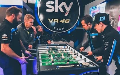 Sky VR46, sfide e incroci: decide il biliardino