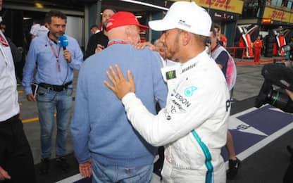 """Hamilton: """"Grazie a tutti per i messaggi su Lauda"""""""