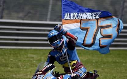 Moto2: Marquez 1°, Marini 2°. Baldassarri leader
