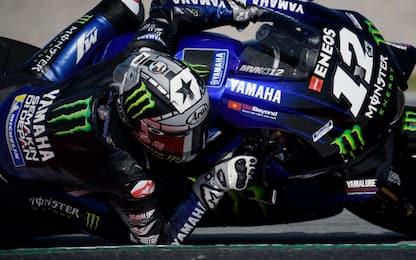 Warm up di MotoGP: 1° Vinales, 2° Dovi, 13° Rossi