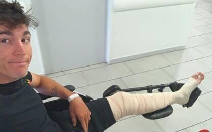 Espargaró, frattura al femore e lesione alla tibia