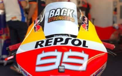 Tornerai più forte: Honda unita intorno a Lorenzo