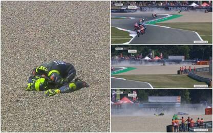 La caduta di Valentino Rossi. VIDEO