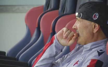 Mihajlovic all'allenamento del Bologna. VIDEO