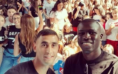 Koulibaly e Ghoulam dagli studenti di Scampia
