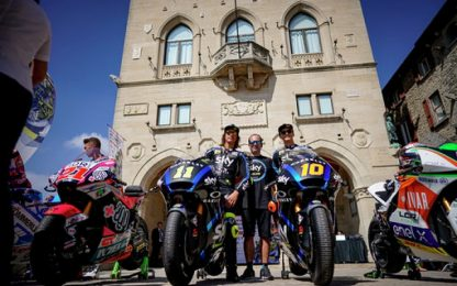 GP Misano, Marini e Bulega sfilano a San Marino