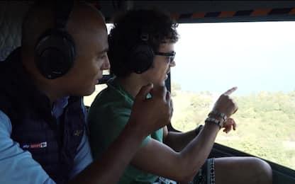 In elicottero col Morbido, da San Marino a Misano