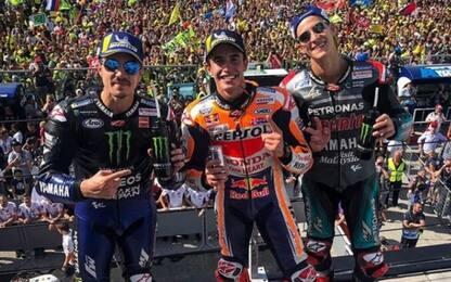 GP Misano, trionfa Marquez. 4° Rossi, 6° Dovizioso