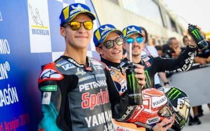 Aragon, Marquez in pole. 6° Rossi, 10° Dovizioso