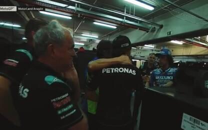 Rins, a fine gara le scuse a Morbidelli. VIDEO