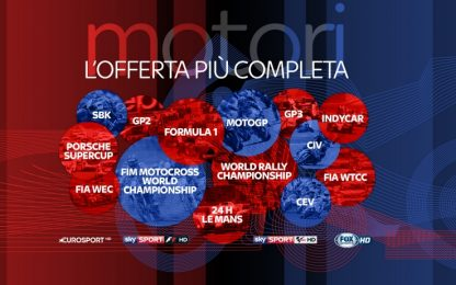 F1 e MotoGP: su Sky la stagione più rock di sempre