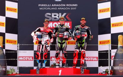 SBK, Aragon: Rea vince gara 1, Melandri secondo