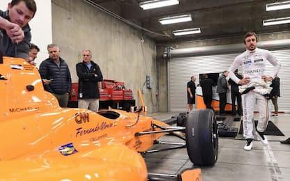 Alonso, il gran giorno: primi test a Indianapolis