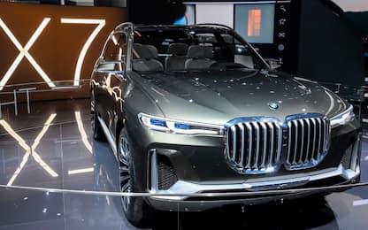 BMW X7 concept, prove di mega SUV a Francoforte