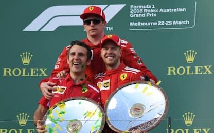 Due Ferrari sul podio a Melbourne 14 anni dopo