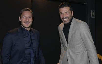 """Totti a Buffon: """"E' straziante, per sempre con te"""""""