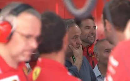 GP Francia, Platini al box Ferrari. VIDEO
