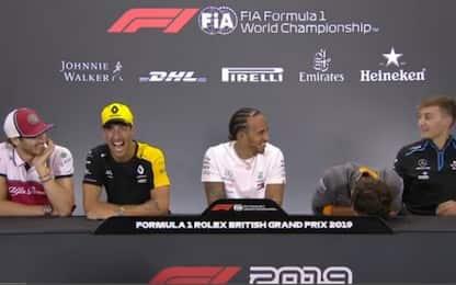Norris non si trattiene, scoppia a ridere. VIDEO
