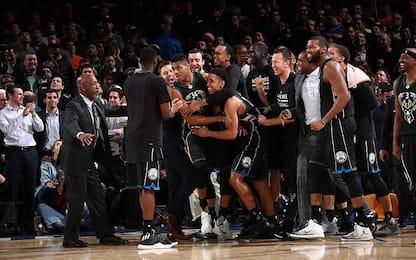 NBA, Giannis sulla sirena zittisce il Garden