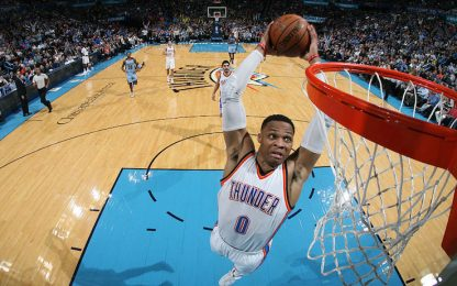 NBA, i risultati della notte: altro Westbrook-show