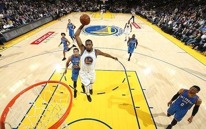 NBA, super Durant travolge ancora i Thunder