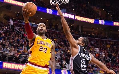 NBA, Cavaliers-Spurs: Leonard sfida James