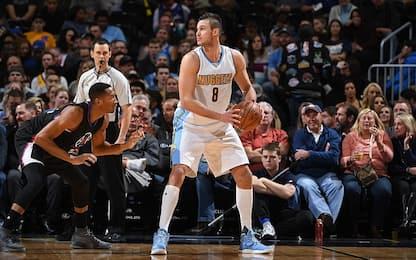 NBA, vincono Denver e Charlotte: 18 per Gallinari