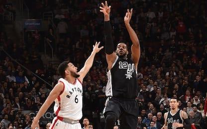NBA, gli Spurs senza Leonard vincono a Toronto