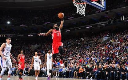 NBA, Harden nella storia: 2^ tripla doppia ai 50