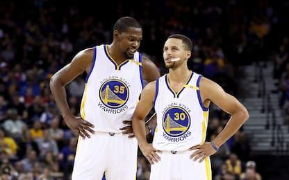 """NBA, il messaggio di KD a Curry: """"Sii te stesso"""""""