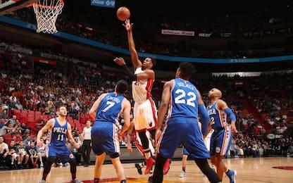 NBA, i risultati della notte: decima sinfonia Heat