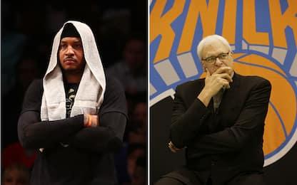 NBA, è ancora Carmelo Anthony contro Phil Jackson