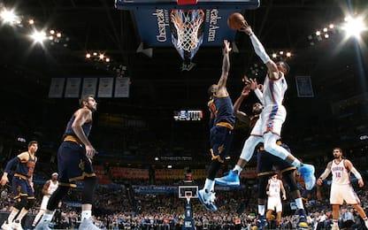 NBA, non bastano i Big Three: i Cavs perdono a OKC
