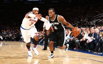 NBA, nel caos di casa Knicks arrivano gli Spurs