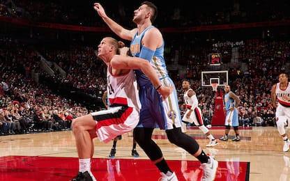 NBA, Jusuf Nurkic a Portland per Mason Plumlee