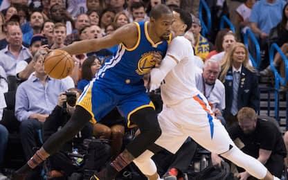 NBA, 47 di Westbrook ma a OKC vince ancora Durant