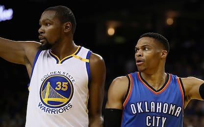 "NBA, Kerr: ""Russ in campo assieme a KD? Perché no"""