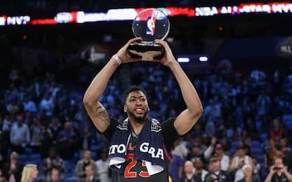 NBA, All-Star Game: vince l'Ovest, Davis MVP