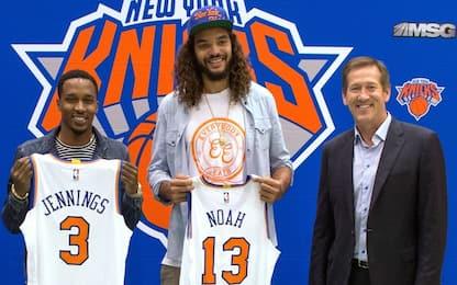 NBA, Knicks a picco: fuori Noah, Jennings tagliato